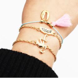 B-0946  Multilayers Shell Birds Heart Shape Fringe Tassl Bracelet & Bangle Sets for Women Boho Party Jewelry Gift