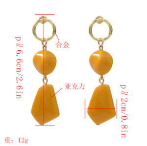 E-5204  Fashion Acrylic Geometric Drop Earrings for Women Bridal Wedding Party Jewelry Gift