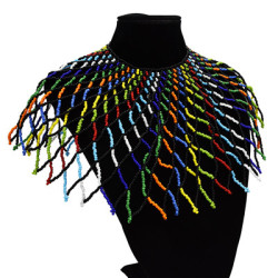 N-7195  2 Styles Handmade Big Coloful Resin Beads Statement Choke Collar Shawl Bohemian Party Jewelry