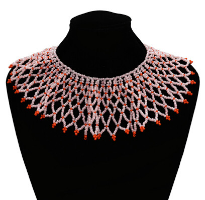 N-7194  Ethnic Coloful Resin Beads Statement Choke Collar Necklace Bohemian For Women Jewelry