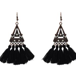E-5210  5 Colors Ethnic Cotton Fringe Tassel Drop Earrings for Women Boho Party Jewelry Gift