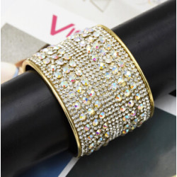 B-0951  4 style Turkish Trendy Unique Full  Shining Crystal Rhinestone Little Acrylic Sequins Cuff Bracelet& Bangle For Women Jewelry Design
