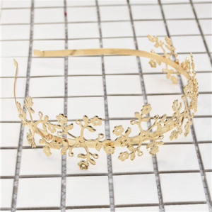 F-0613 Vintage Gold Leaf Hairbands Hair Ornament Headdress Girl Women Hair Jewelry Accessories