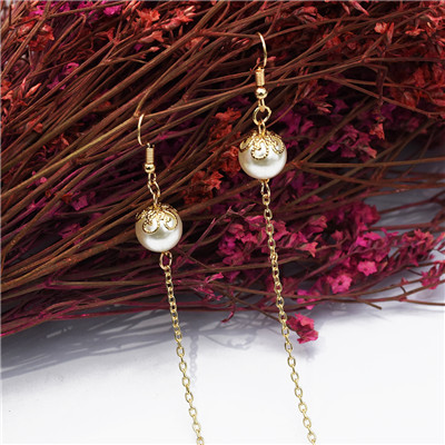 E-5211  3 Styles Chain One-Piece Long Earrings For Woman Jewelry Design