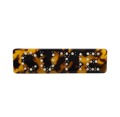 F-0614  2 Styles Cute Girl Leopard Printed Hairpins Smile Face Hair Clip Hairgrips Party Hair Jewelry