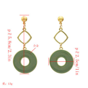 E-5212  4 Colors Fashion Acrylic Geometric Drop Earrings For Women