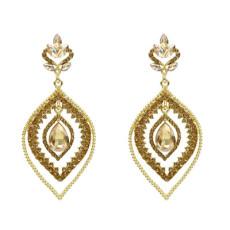 E-5214  Fashion 5 Color  Drop Dangle Earring Inlay Crystal Rhinestone Dangle Long Earrings For Women Jewelry