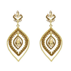 E-5214  Fashion 5 Color  Drop Dangle Earring Inlay Crystal Rhinestone Dangle Long Earrings For Women Jewelry