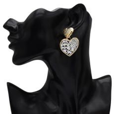 E-5213 Fashion 4 Color Heart Shaped Drop Dangle Earrings For Women Jewelry