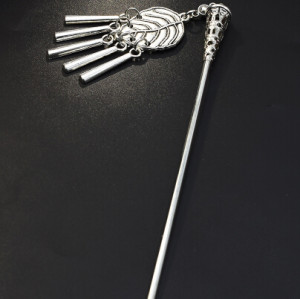 F-0619 Vintage Silver Metal Leaves Shape Hair Sticks for Women Girl Party Hair Jewelry