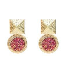 E-5220  4 Colors Heart Shape Drop Dangle Earrings For Women Jewelry Design