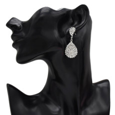 E-5221  Fashion 2 Color  Drop Dangle Earring Inlay Crystal Rhinestone Dangle Long Earrings For Women Jewelry