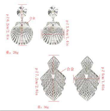 E-5237  Simple 2 Style Silver Gold Alloy Drop Dangle Earrings For Women
