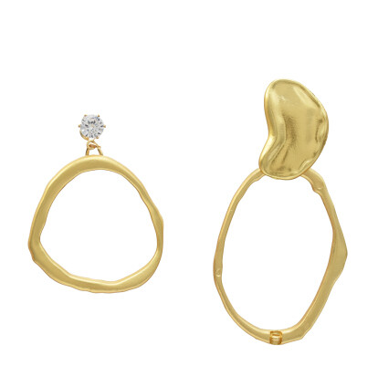E-5241 Fashion Geometric Shape Gold Metal Drop Earrings for Women Party Jewelry Gift
