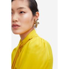 E-5262 Elegant Silver Gold Metal Flower Stud Earrings for Women Girl Wedding Party Jewelry
