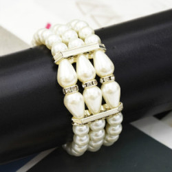 B-0958  4 Styles Fashion Multilayer Pearl Bracelet and Bangle for women Jewelry Design