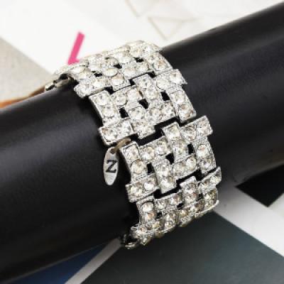B-0957 Bohemia Trendy Unique Full  Shining Crystal Rhinestone Little Acrylic Sequins Cuff Bracelet& Bangle For Women Jewelry Design