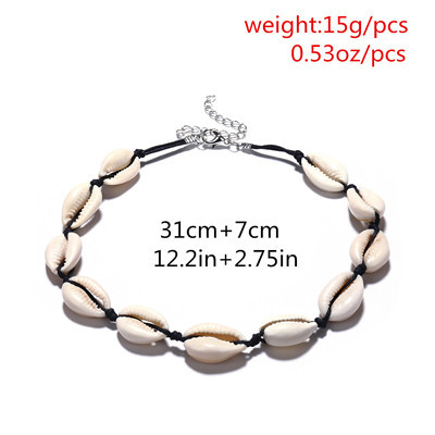 N-7217 3 Colors Shell String Rope Collar Necklace for Women Jewelry Design