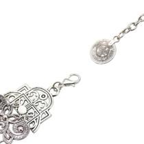B-0962 Trendy Vintage Silver Carved Flower Coin Bracelet For Women Jewelry Design
