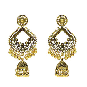 E-5276  4 Styles Indian Zamak Hollow Ball Tassel Earring for Women Jewelry Design