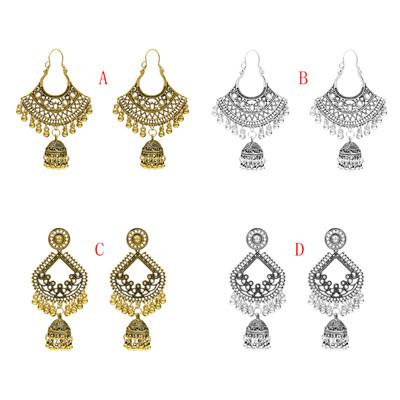 E-5276  4 Styles Indian Zamak Hollow Ball Tassel Earring for Women Jewelry Design