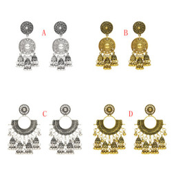 E-5284  4 Styles Indian Zamak Bell Tassel Earring for Women Jewelry Design