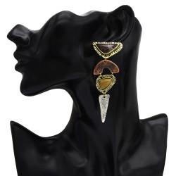 E-5291  3 style Retro Earrings Triangular Square Geometric Pendant Earrings Women Bijoux Jewelry
