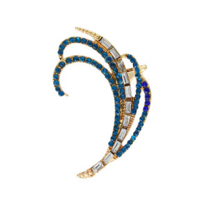 E-5297  2 Colors Claw Shape Rhinestone Outer Auricle Cuff Earring for Woman Jewelry Design