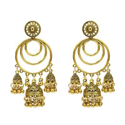 E-5306 2 Colors Indian Zamak Bell Tassel Earring for Women Jewelry Design