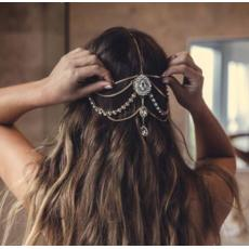 F-0637 European Style Gold Silver Plated Full Crystal Multilayer Head Chain Hair accessories Jewelry