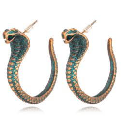 E-5321  2 Styles Vintage Bronze Snake Eagle Shape Earrings for Women Boho Punk Party Jewelry
