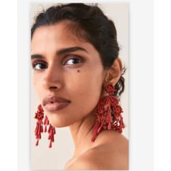 E-5341 Luxury Bohemian Big Long Tassel Earrings For Women Flower Shape Rhinestone Drop Earring Wedding Party Jewelry