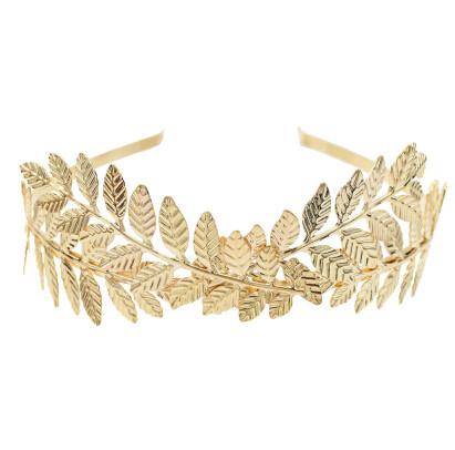 F-0651  Fashion Greece Gold Silver Plated Alloy Hairband Leaf Shape Girls Bride Headband Wedding Hair Jewelry