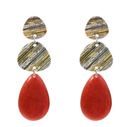 E-5347   4 Colors Fashion Big Acrylic Statement Water Drop Earrings for Women Wedding Party Jewelry