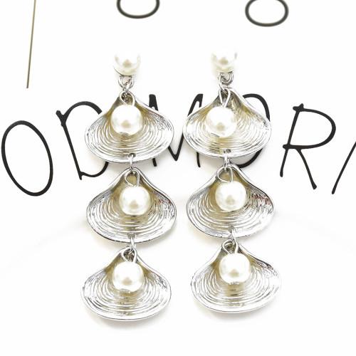 E-5353  2 Colors  Bohemia Pearl Earrings Sea Shell Beach Earrings Drop Dangle Earring for Woman