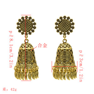 E-5360  Indian Retro Palace Style Chandelier Dangle Earrings Flower Leaf tassels Pendant Earrings
