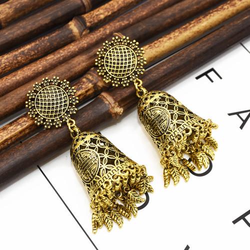 E-5360  Indian Retro Palace Style Chandelier Dangle Earrings Flower Leaf tassels Pendant Earrings