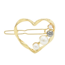 P-0438  4 Styles Girl Gold Metal Pearl Rhinestone Hair Clips Hairpins for Women Wedding Hair Accessories