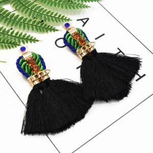 E-5368   Crystal Tassel Earrings for Women Fashion Vintage Bohemian Big Fringe Femme Earring 2019 Jewelry Gift
