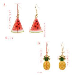 E-5375  Fruit cute watermelon Earrings girls cool pineapple Pendant Earrings summer holiday jewelry