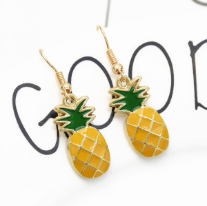 E-5375  Fruit cute watermelon Earrings girls cool pineapple Pendant Earrings summer holiday jewelry