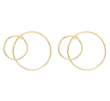 E-5381  2 Styles Gold Circle Round Geometric Stud Earrings for Women Girl Party Fashion Jewelry