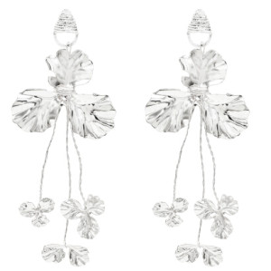 E-5394 New Elegant Gold Silver Metal Leaf Drop Dangle Earrings for Women Summer Party Jewelry