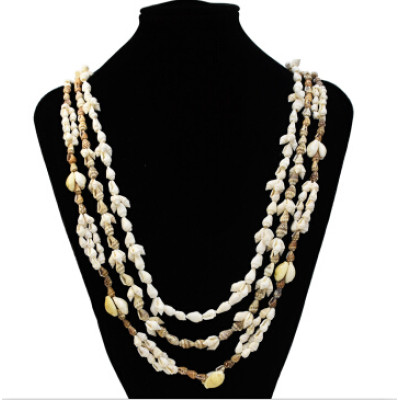 N-7261 Bohemian Natural Shell Conch Pendant Statement Necklaces for Women Boho Party Beach Jewelry