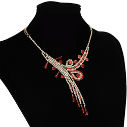 N-7263 New Fashion Full Blue Rinestone Crystal Statement Necklace Earring Bracelet  Jewelry Sets For Women Bridal Party Jewelry