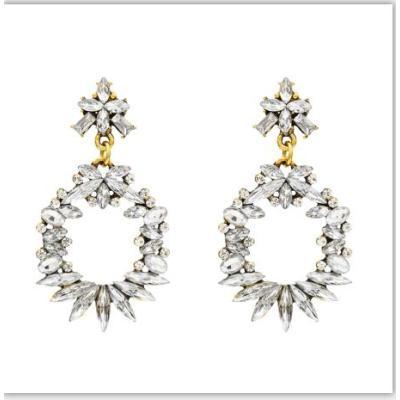 E-5397 Luxury Colorful Crystal Drop Earrings for Women Bohemian Rhinestone Tassel Earrings Statement Jewelry Party