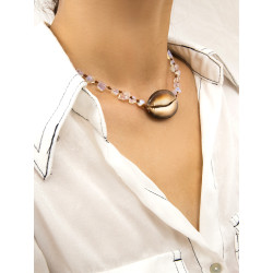 N-7271 Women Jewelry Sets Shell Pearl Maxi Necklace Earring Set Boho Vintage Jewelry