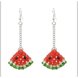 E-5414 Cute Acrylic  Beads  Watermelon Chili   Drop Earrings for Women  Party Summer Jewelry