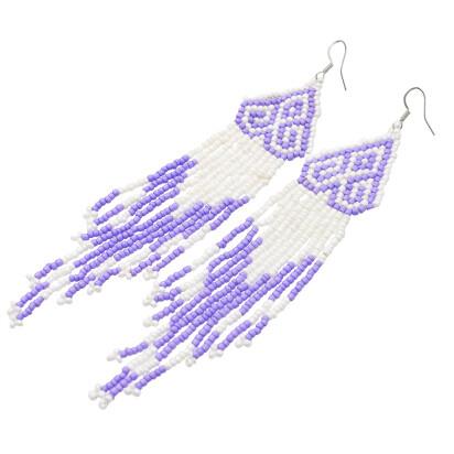 E-5418 Long Tassel Resin Beads Drop Earrings Women's Multilayer Earring for Bride Jewelry Valentine's Day Gift