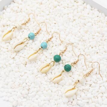 N-7283 3 Color Fashionable Seahorse Shell Turquoise Alloy Necklace  Pendant Party Jewelry